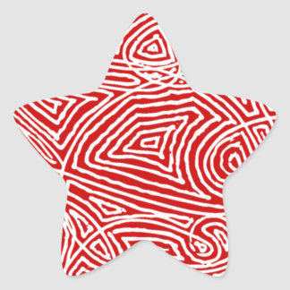 Scribbleprint Star Star Sticker