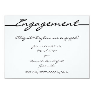 """Scribbles"" Engagement Invitation/Announcement Card"
