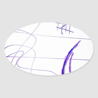 Scribbles Graphs Ideas and Freedom Oval Sticker