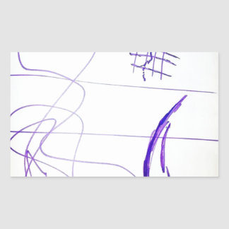 Scribbles Graphs Ideas and Freedom Rectangular Sticker