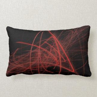 Scribbles- Red On Black Lumbar Cushion
