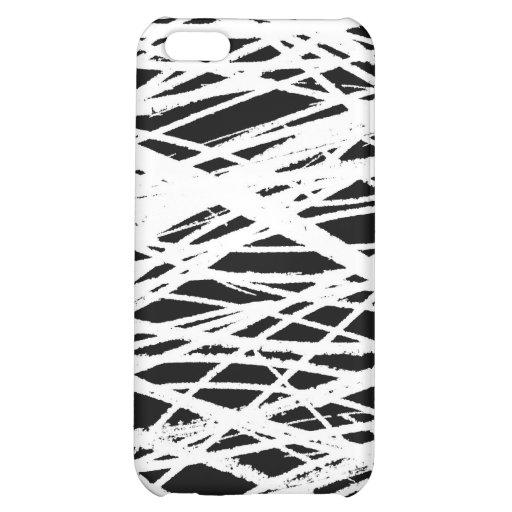 Scribbles White Black 1 iPhone 5C Cases