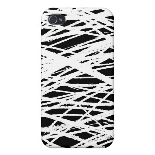 Scribbles White Black 1 iPhone 4 Cases