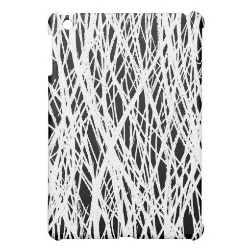 Scribbles White Black iPad Mini Cases