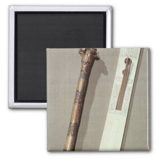 Scribe's palette and a case for writing reeds refrigerator magnet
