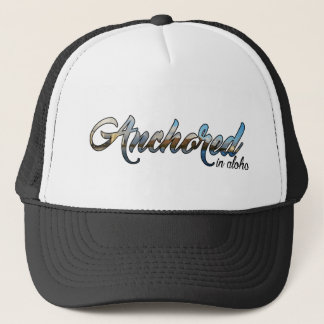 Script Anchored Diamond Head Design Trucker Hat