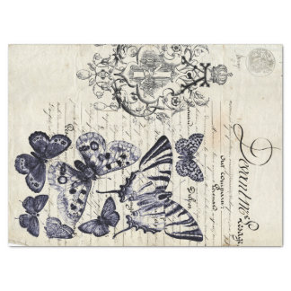 Script Butterfly Collage Sheet