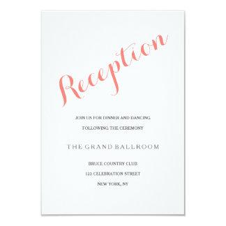Script Coral Pink | Reception Enclosure Card