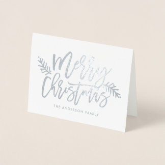 Script Foil Merry Christmas Card