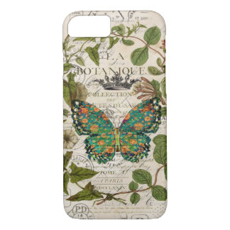 script french country botanical monarch butterfly iPhone 8/7 case