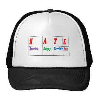 Script HATE  meaning Art NAVIN Joshi lowprice GIFT Mesh Hat