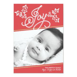 Script Joy Red   Christmas Card