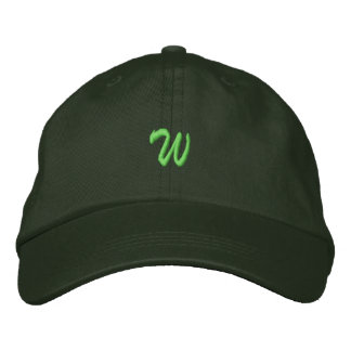 Script-Letter W Embroidered Cap