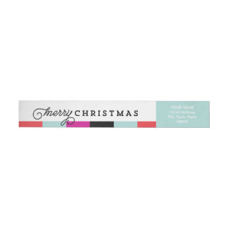Script Merry Christmas | Wrap Around Return Label