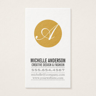 Script Monogram Business Card