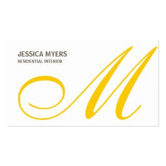Script Monogram Business Card (Mustard)