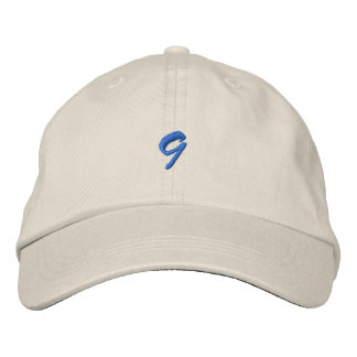 Script-Number 9 Embroidered Baseball Cap