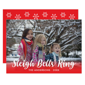 Script Overlay Sleigh Bells Ring Holiday Template