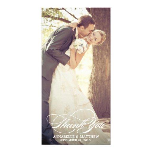 SCRIPT OVERLAY | WEDDING THANK YOU PHOTO CARD