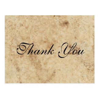 Script Parchment Paper Thank You Postcard