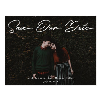 Script Save The Date Postcard