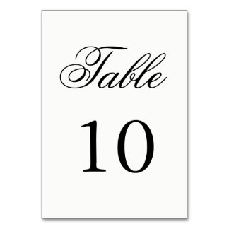 Script Table Number