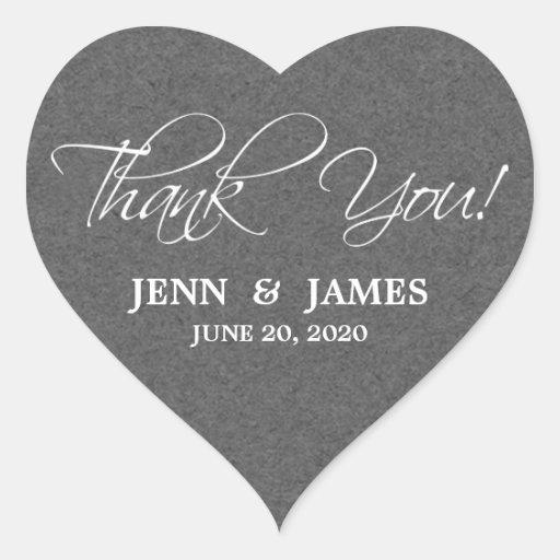 Script Thank You Wedding Favor Labels Sticker