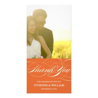 SCRIPT THANKS WEDDING THANK YOU PHOTO CARD