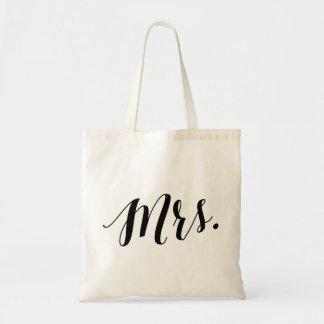 Script Tote | Mrs Budget Tote Bag