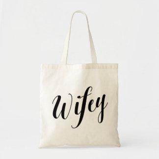 Script Tote | Wifey Budget Tote Bag