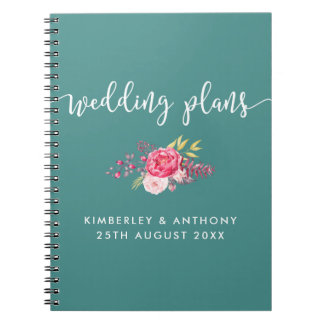 Scripted and Floral Wedding Planning Notebook