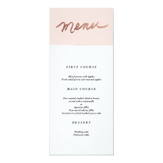 Scripted Love Faux Foil Wedding Menu Card
