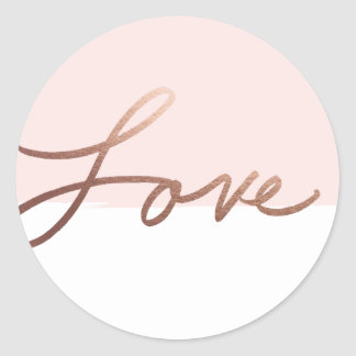 Scripted love faux foil wedding sticker