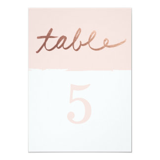 Scripted love Faux Foil Wedding table numbers
