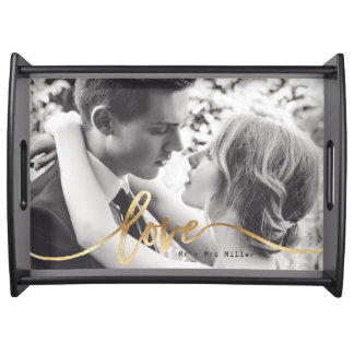 scripted love serving tray