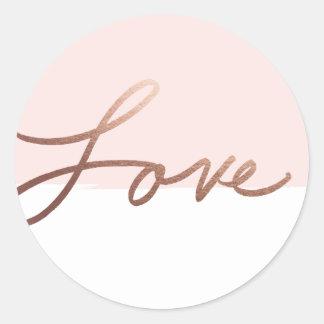Scripted love | Wedding sticker