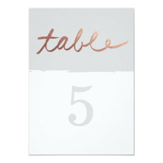 Scripted love | Wedding table numbers 13 Cm X 18 Cm Invitation Card