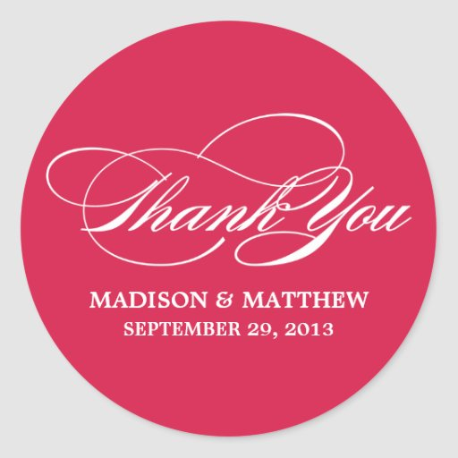 SCRIPTED | WEDDING THANK YOU FAVOR LABEL STICKERS
