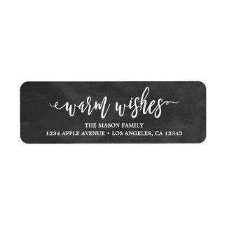 Scripted Wishes Return Address Label