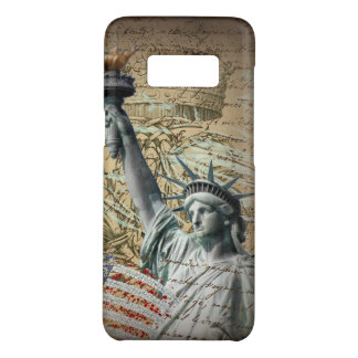 Scripts Patriotic New York statue of liberty Case-Mate Samsung Galaxy S8 Case