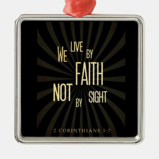 Scriptural Bible Verse - 2 Corinthians 5:7 Christmas Tree Ornament
