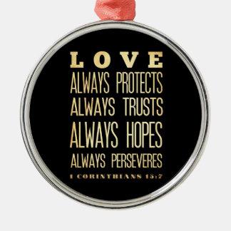 Scriptural Bible Verse - Corinthians 13:7 Ornament