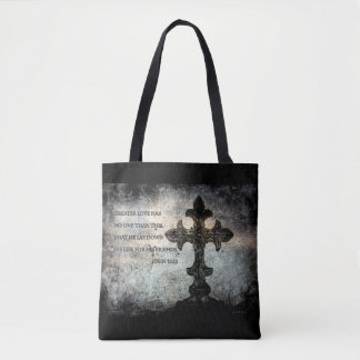 Scripture All-Over-Print Cross Body Bag