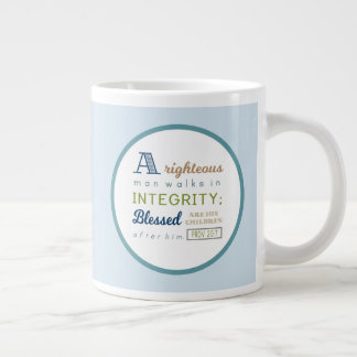 Scripture and Photo Father's Day Large Coffee Mug