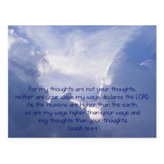 Scripture, Angel Image,  Isaiah 55:8,9, Postcard