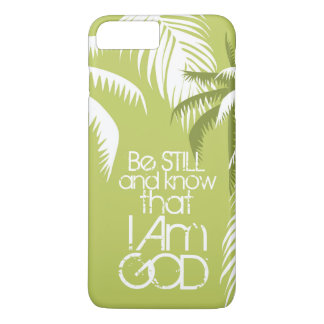 Scripture Be Still and Know I Am God Palm Trees iPhone 8 Plus/7 Plus Case