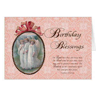 Scripture Birthday Blessings Angels Card