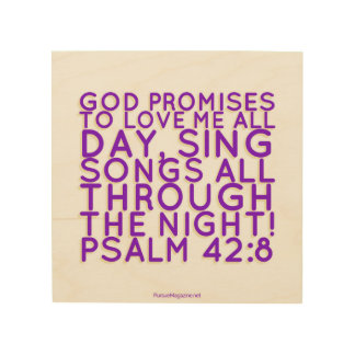 Scripture: Christian Wall Art, Psalm Wood Wall Art