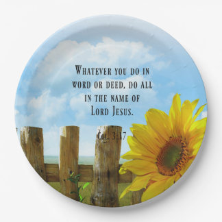 Scripture, Colossians 3:17 Paper Plate