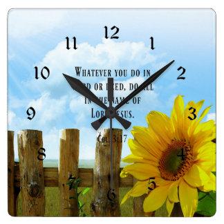 Scripture, Colossians 3:17 Wall Clocks